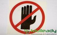 """TEM1351 DECAL """"HANDS CLEAR"""" (13235)"""